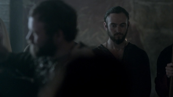 an uncomfortable Athelstan looks on