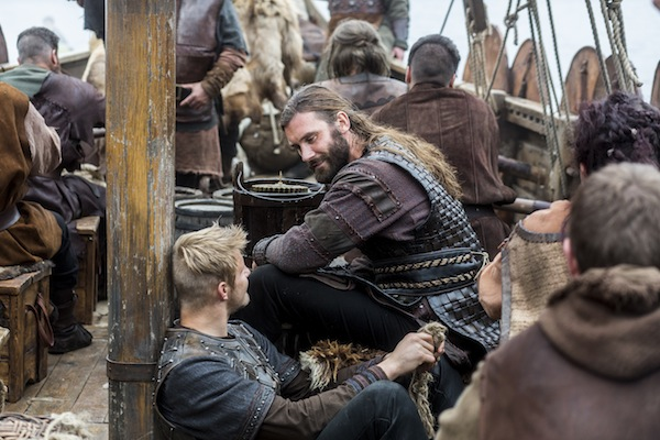 Bjorn-Alexander-Ludwig-and-Rollo-Clive-Standen-bond-on-the-boat
