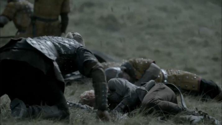 bjorn crawls to her lifeless body