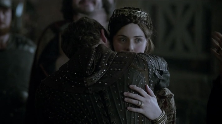 Judith fakes her welcome of Aethelwulf while eying athelstan