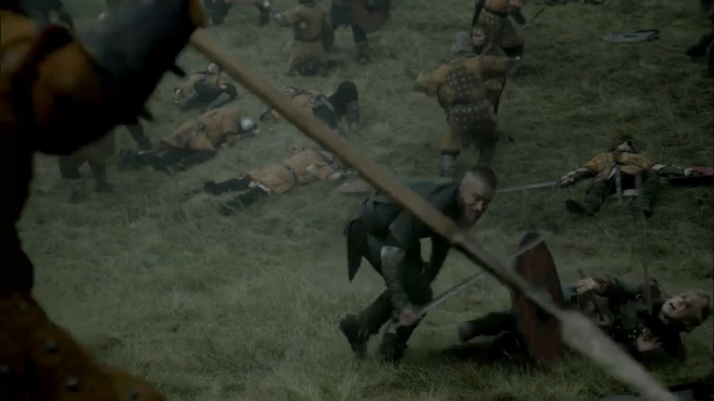 ragnar can do nothing for her but has to save himself