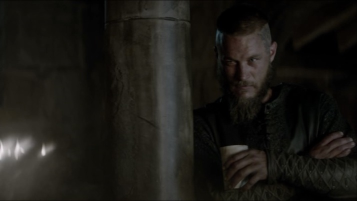 ragnar watches and urges her to go on