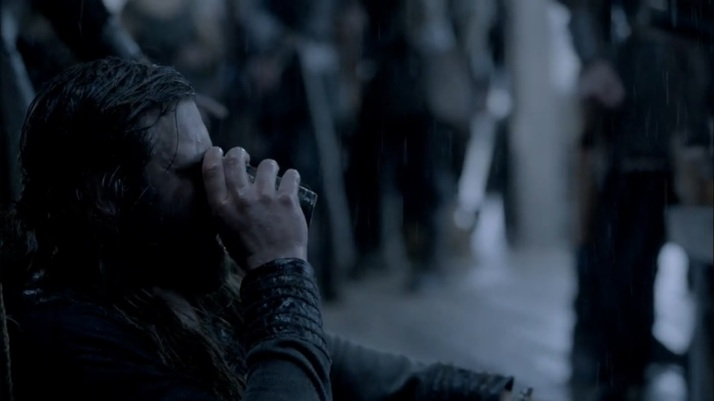 rollo tries to drink away his anguish