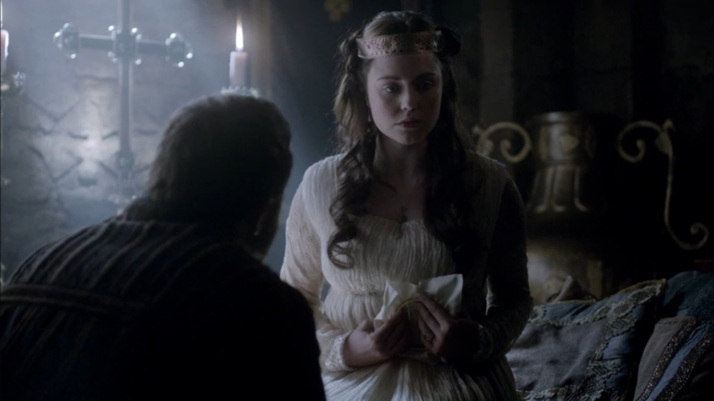 silence as judith tries to find courage to tell aethelwulf her condition
