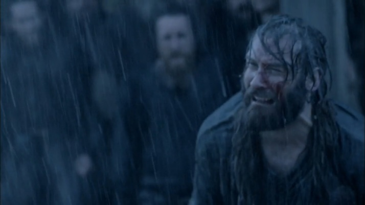the deepest pain and grief within rollo comes out as he pleads with bjorn to end his suffering