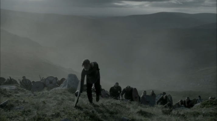 torstein makes his solitary climb to his last battle