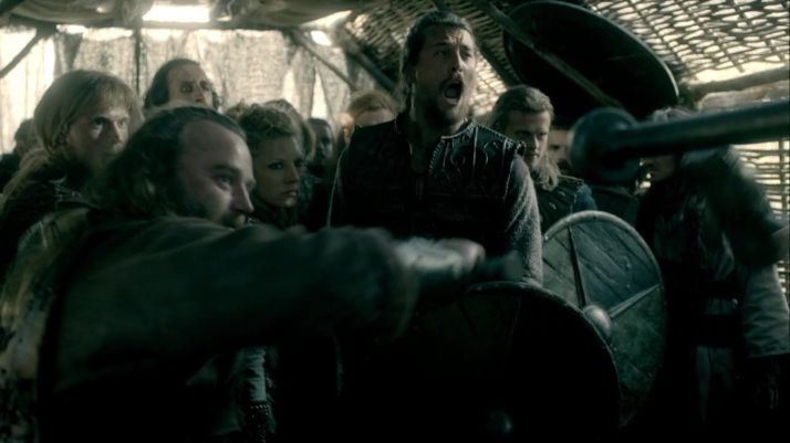 at the gates Kalf has taken over much to lagertha's annoyance