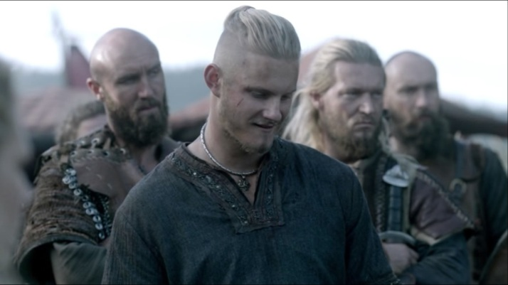 bjorn can't help but shake his head and laugh at Ragnar's tirade and his intent