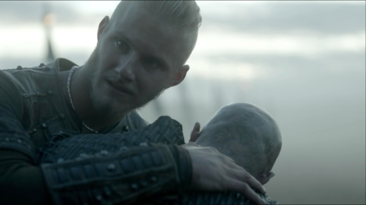 bjorn watches lagertha head past them and knows this will end yet again in him having to decide between parents