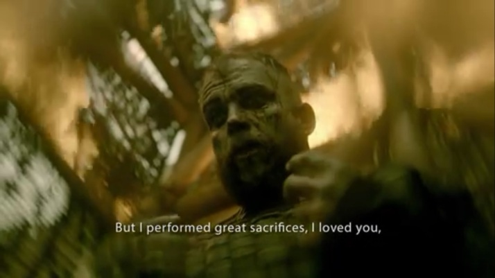 floki begging the gods I have performed great sacrifices I have loved you