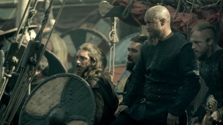 Floki looks a little nervous  Ragnar just thinks Thank the Gods Rollo is there