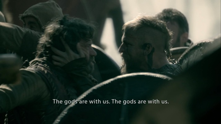 Floki tries to inspire the men