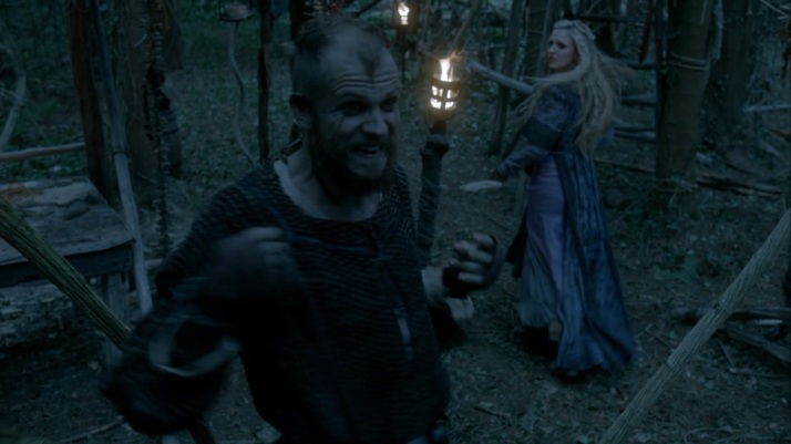 helga runs to escape floki's bout of madness