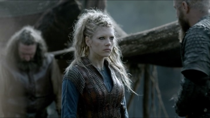 Lagertha is not amused with Ragnar's speech to her