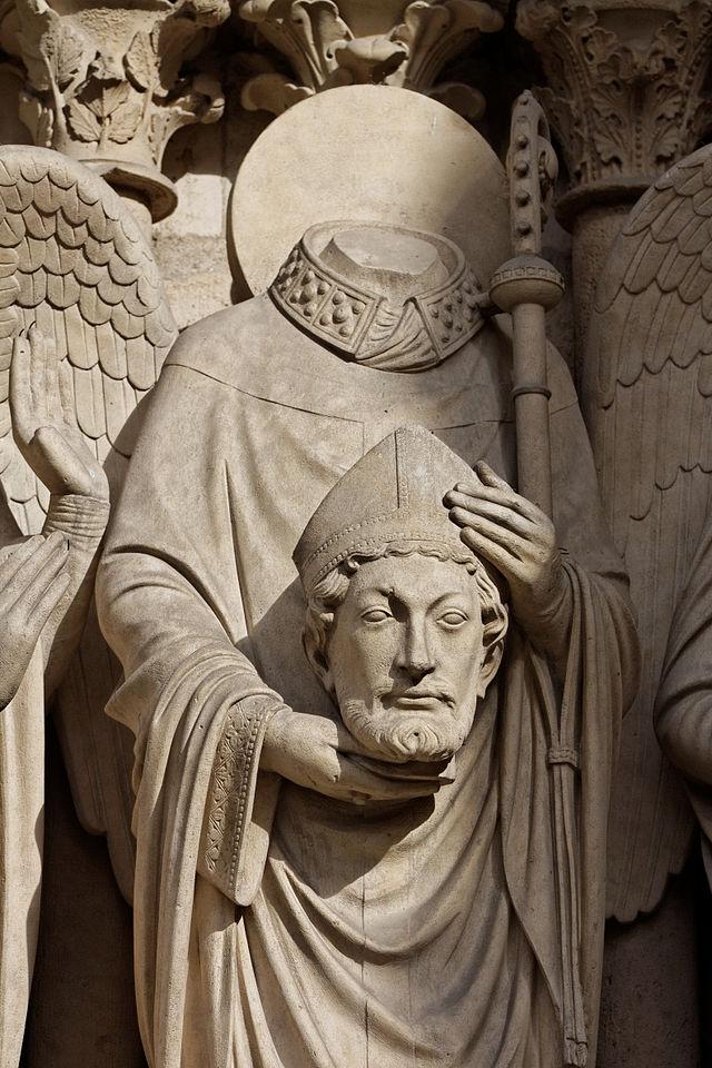 Paris Cathédrale_Notre-Dame Portail de la_Vierge. St. Denis
