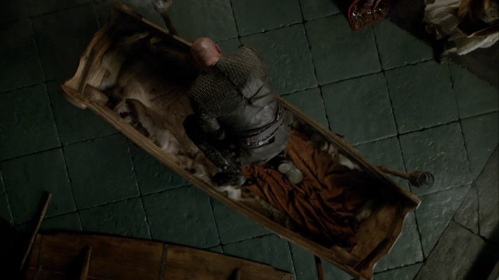 ragnar crawls out of his coffin