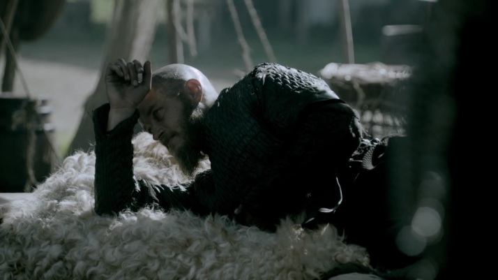 ragnar listens from the side unable to do much more than that