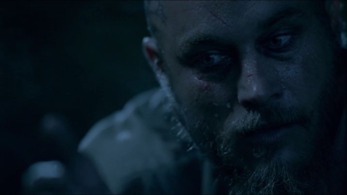 ragnar suddenly aware of odin's prescence