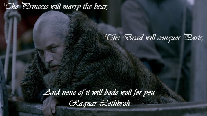 ragnar watches rollo from the boat