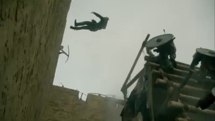 ragnar's fall from the wall