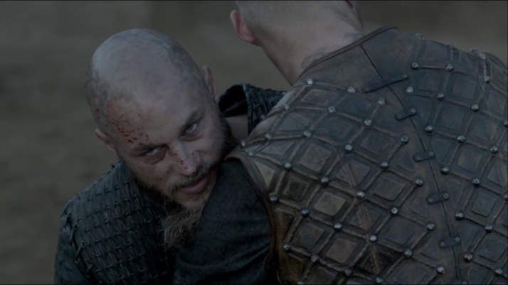 ragnar's knowing look at floki  just wait floki until I am recovered from this