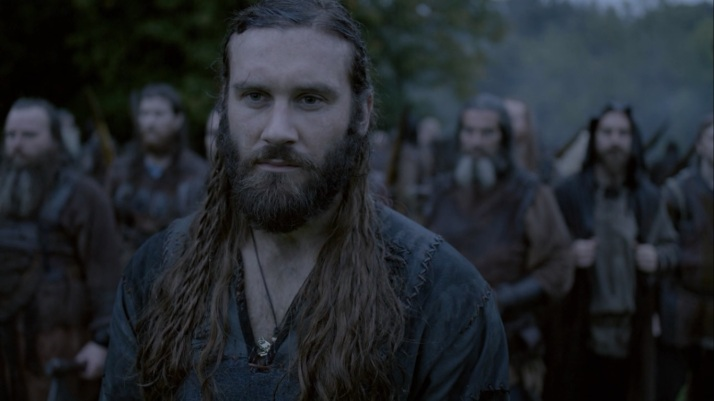 Rollo  and his warriors stay behind as the ships depart.