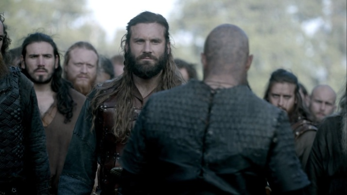 Rollo just stays out of this he knows Ragnar's mood