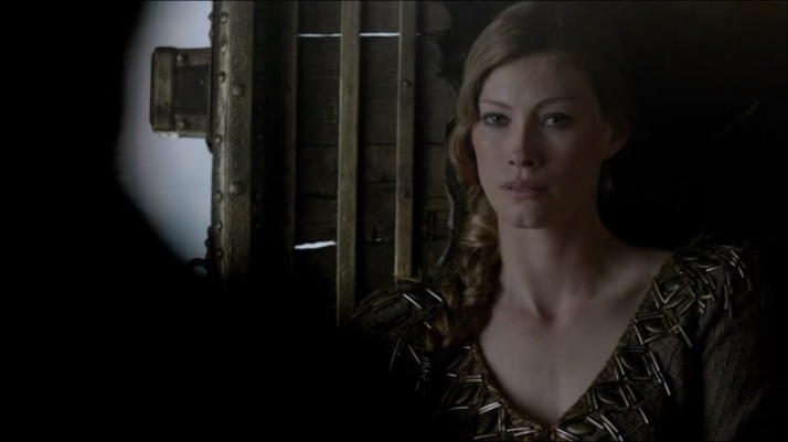 to her credit Aslaug allows him to speak and to thus seal his fate.