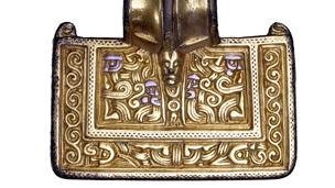 silver-gilt brooch detail