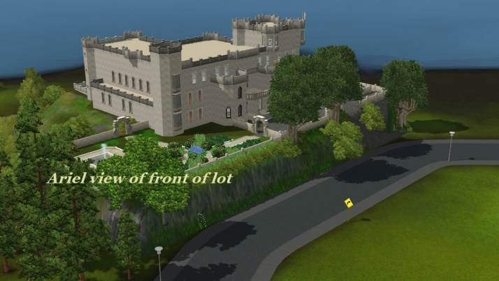 Arial view of front of lot