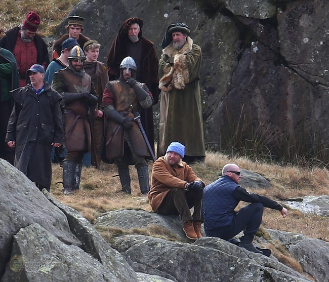 Filming 'The Knights of the Round Table:King Arthur'  in Wales Featuring: Guy Ritchie Where: Conwy, United Kingdom When: 14 Apr 2015 Credit: WENN.com