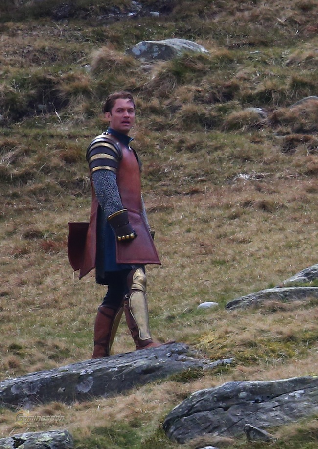 'Knights of the Roundtable: King Arthur' filming in Wales Featuring: Jude Law Where: Conwy, United Kingdom When: 14 Apr 2015 Credit: WENN.com