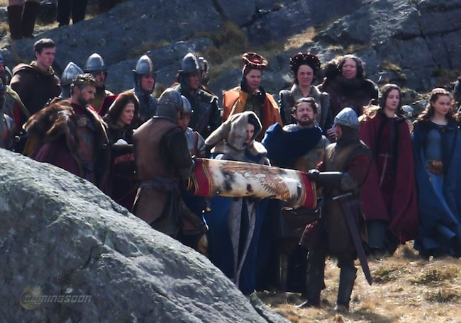 'Knights of the Roundtable: King Arthur' filming in Wales Featuring: Jude Law, Eric Bana, Poppy Delavingne Where: Conwy, United Kingdom When: 14 Apr 2015 Credit: WENN.com