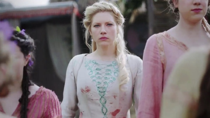 lagertha shame that she has destroyed that beautiful dress