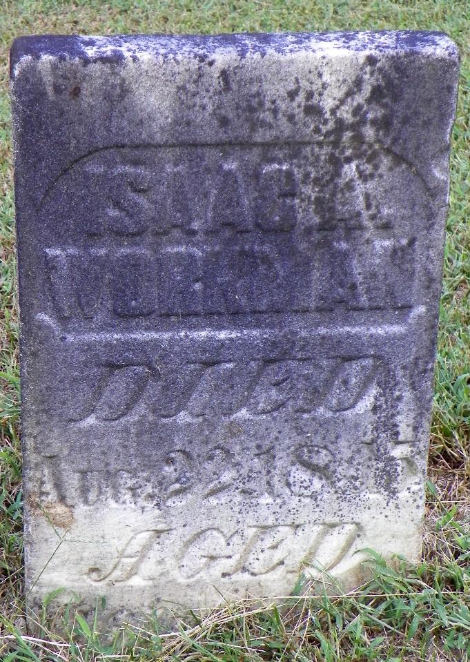 Isaac Workman gravestone