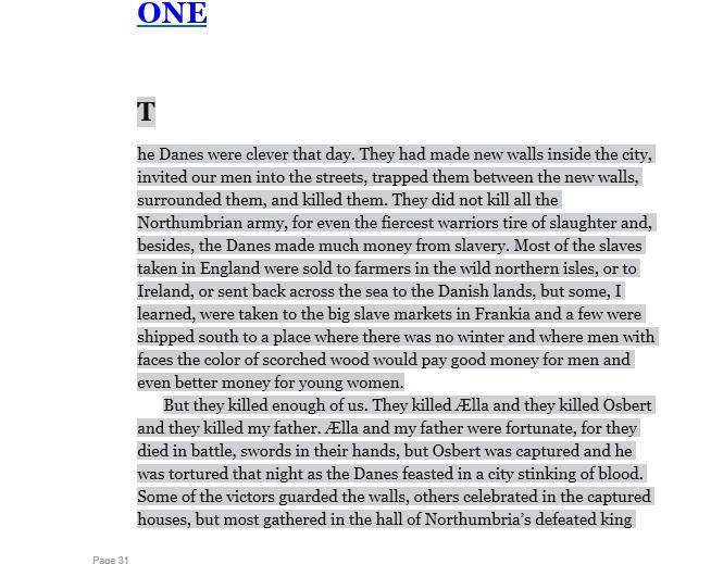 last kingdom excerpt Aelle and Osburt