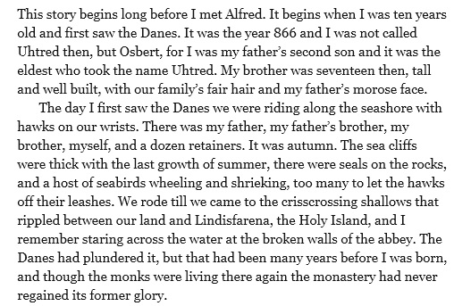 Last kingdom excerpt starting date