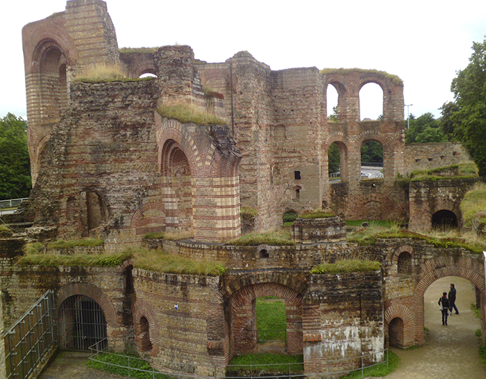 old roman baths in trier