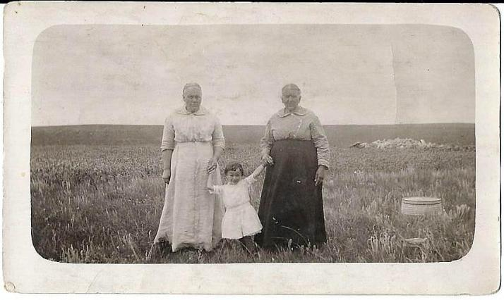 sister of Catherine Meyers Miller (likely Elizabeth), Evelyn Miller & her grandmother, Catherine Miller