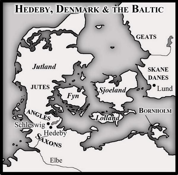 Hedeby Time Slips - Sweden map hedestad