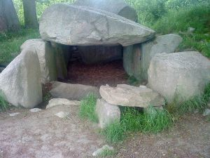 One of more than 1,000 megalith sites in Mecklenburg-Vorpommern - the Lancken-Granitz dolmen