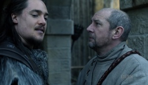 Beocca vouches for Uhtred and leads him to Alfred instead of the king.