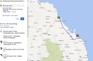 berwick to bamburgh castle