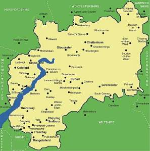 Gloucestershire_map