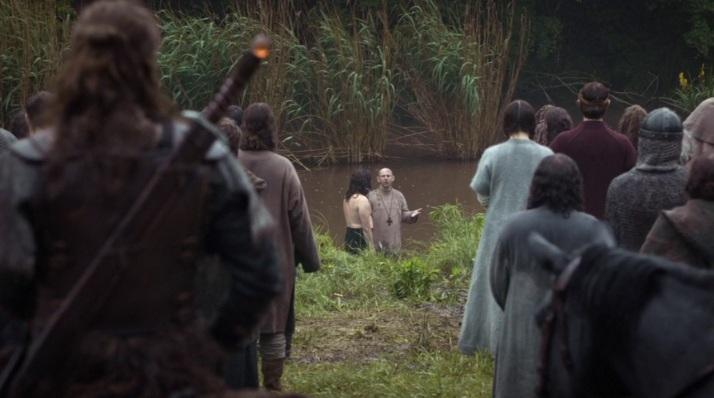 Guthrum gets baptized