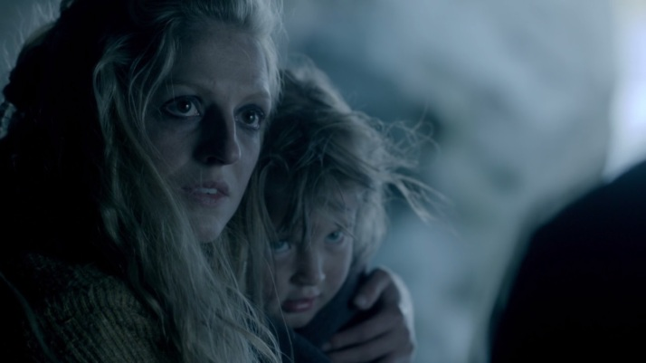 agriboda is sick and coughing helga tries to comfort her while ragnar says I don't blame you...