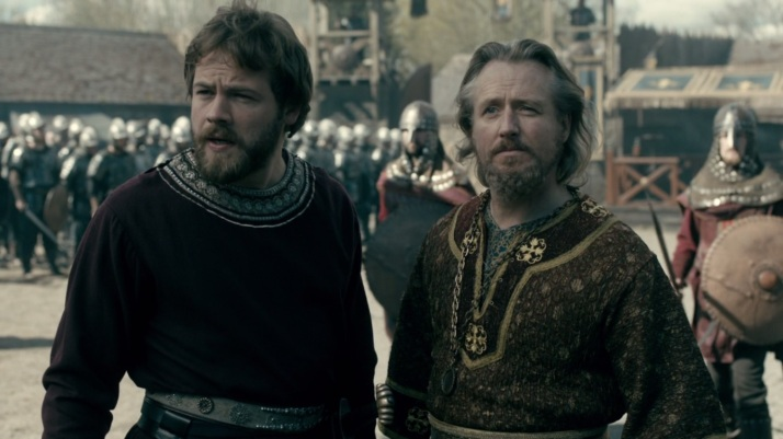 Ecbert and Aethelwulf present a united front despite their differences.