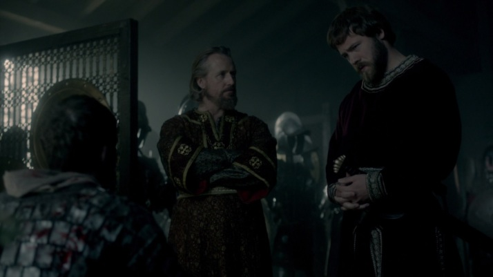 Ecbert and Aethelwulf have some disagreement over how to proceed.