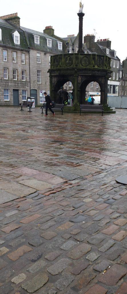 Mercat cross at city center