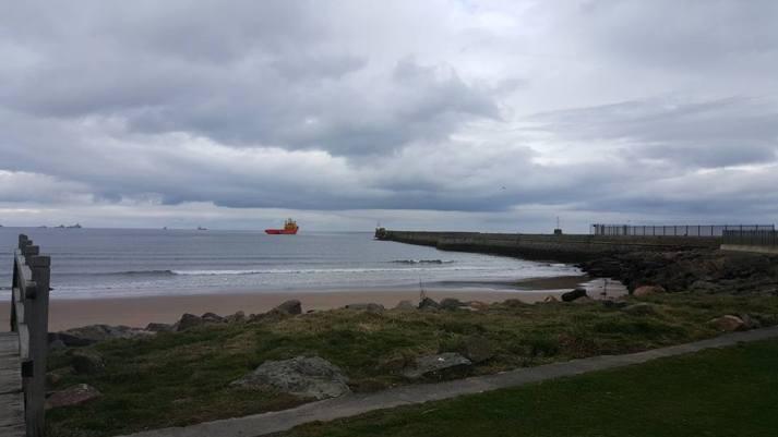 North sea coast at Aberdeen